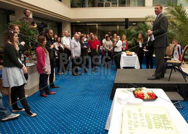Matt Roberts & Matt Pinsent, at Team 2012 visit Northcliffe House