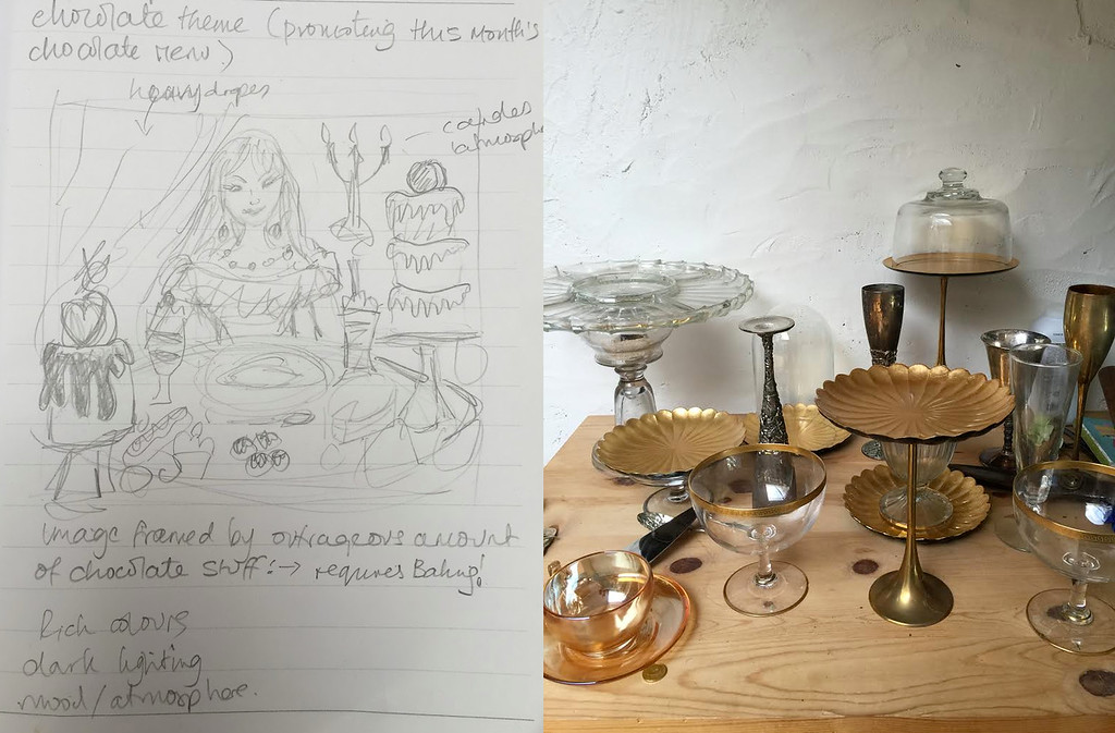Conceptual Sketch and Collecting Props