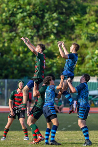 Alice Smith School in action during the SEASAC Rugby Tournament, Alice Smith School, Kuala Lumpur 4th February 2018. Photo by Tom Kirkwood/SportDXB