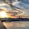 Sun sets over Donaghadee