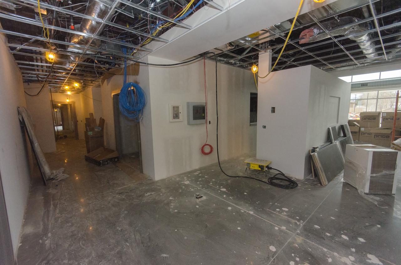 Cashier/Workroom/Hallway to Exam Rooms (Lft)