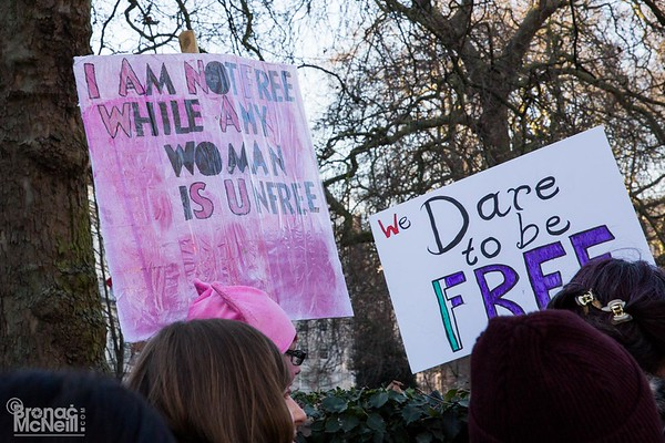 Women's March, London, 21March2017, photographer Bronac McNeill