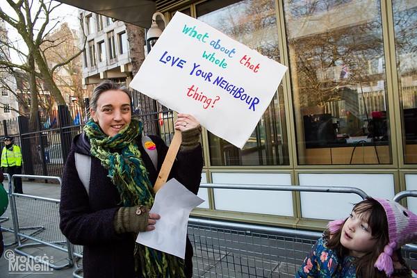 Women's March, London, 21March2017, photographer Bronac McNeill