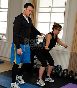 James Duigan and Alison Marcuse-Harris. You magazine readers training day with James Duigan and the Bodyism team, London, 18th June 2011. ©BronacMcNeill