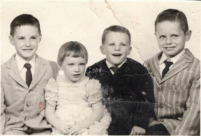 Mike, Dorothy, Jim and Bill October 27, 1960 San Mateo, California