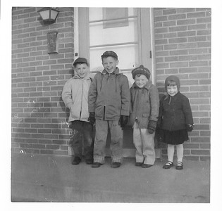 Mike, Bill, Jim and Dorothy 1960 Des Plaines, Ill.