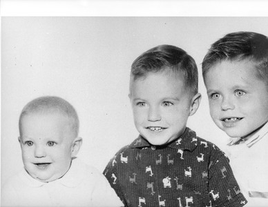 Jim, Mike and Bill,  1957 Des Plaines, Ill.