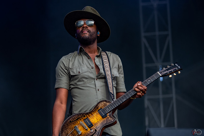 Gary Clark Jr. on the Limestone Stage at the Railbird Festival in Lexington, KY. Photo by Tony Vasquez.