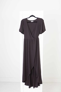 Wrap Around Dress in Chocolate Brown