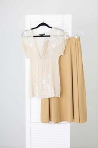 Khaki Skirt and Top