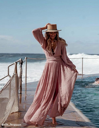 Lapis Maxi Dress in Blush