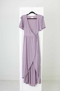 Wrap Around Dress in Mauve