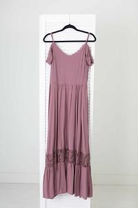 Coral Dress in Mauve