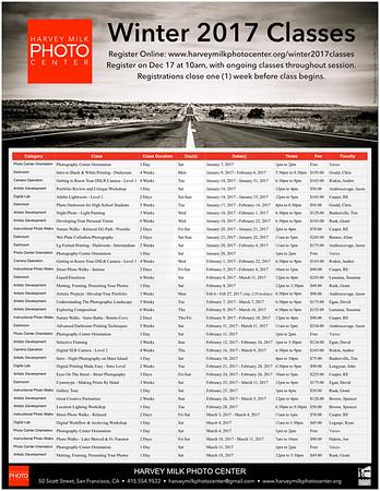 Winter 2017 Class Schedule - Front