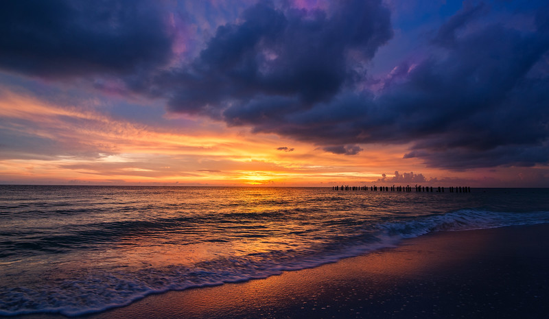 Naples Beach Sunset-9487