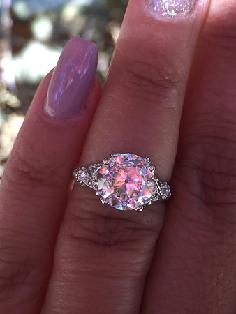 9mm OEC Moissanite in Vintage Mounting