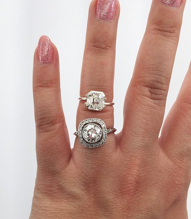 OEC Ring vs 2.86 Loose Asscher for HD
