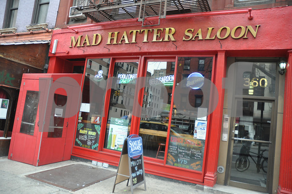 The Mad Hatter Saloon, New York City.<br /> 360 3rd Ave. (212) 696-2122