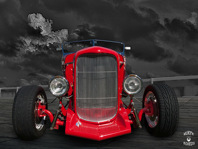 1932FordHighboyRedFrontLow