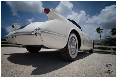 1953 White Corvette Convertible