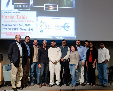 The core Desi at AOL and Muslims at AOL team that helped put together the event