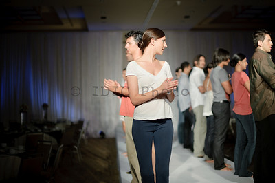 Fashion for a cause Deepak Parwani -  rehearsals before the event