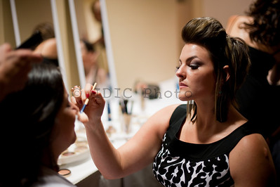 Fashion for a cause Deepak Parwani - backstage models makeup