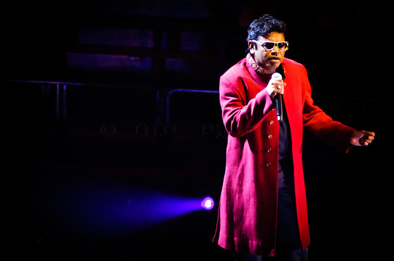 Concert by Oscar-winning singer songwriter A.R. Rahman at the George Mason University Patriot Center. June 13, 2010.