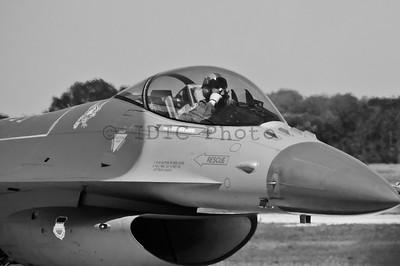 F-16 returning from heritage flight