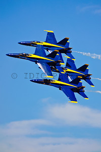 US Navy Blue Angels diamond formation. Joint Services Open House 2010