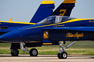 Boeing F/A-18 Hornet of the Blue Angels. Lt Jim Tomaszeski's plane