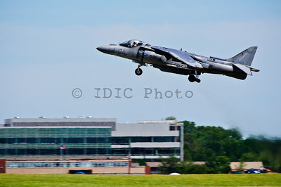 Marine Corps' AV-8B Harrier taking off