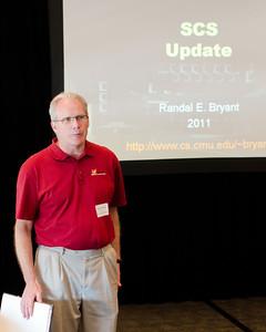CMU SCS Dean Randy Bryant presenting SCS Updates. CMU SCS / ECE Alumni Networking Luncheon - July 16, 2011