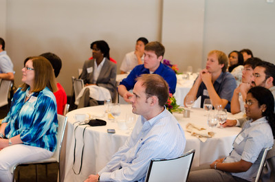 A view of the alumni and students at the CMU SCS / ECE Alumni Networking Luncheon - July 16, 2011