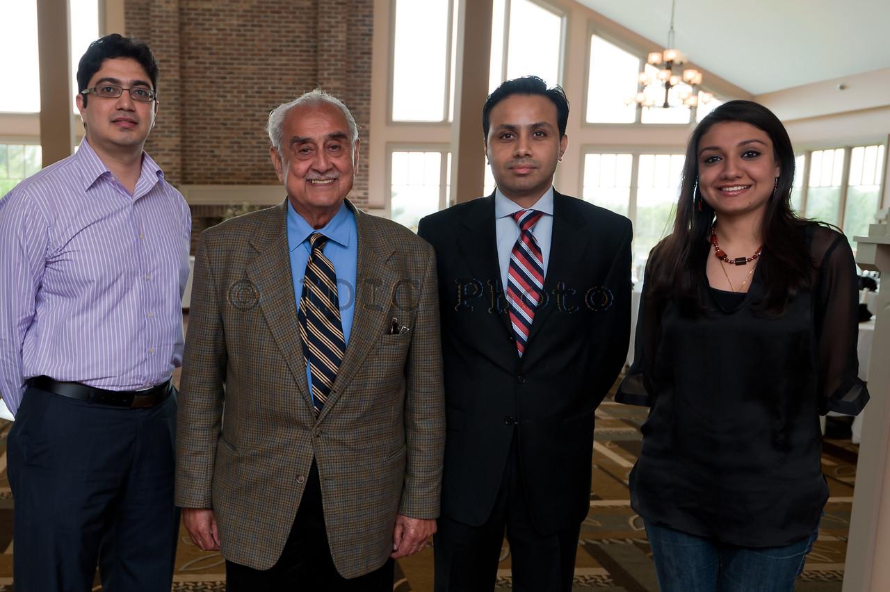Syed Babar Ali with Salman, Dilawar and Fatima