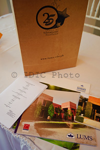 Guests were given information packages containing brochures on LUMS, National Outreach scholarship program.