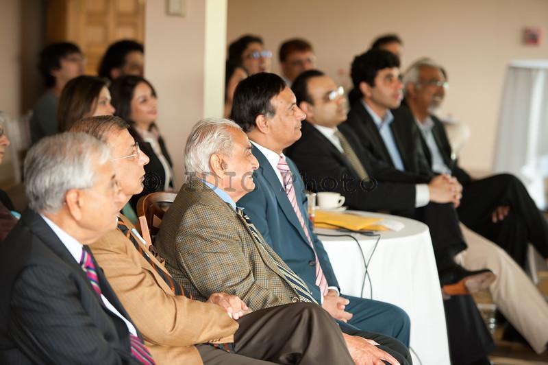 Syed Babar Ali with Ambassador Haqqani, Mr Shuja Nawaz and other guests