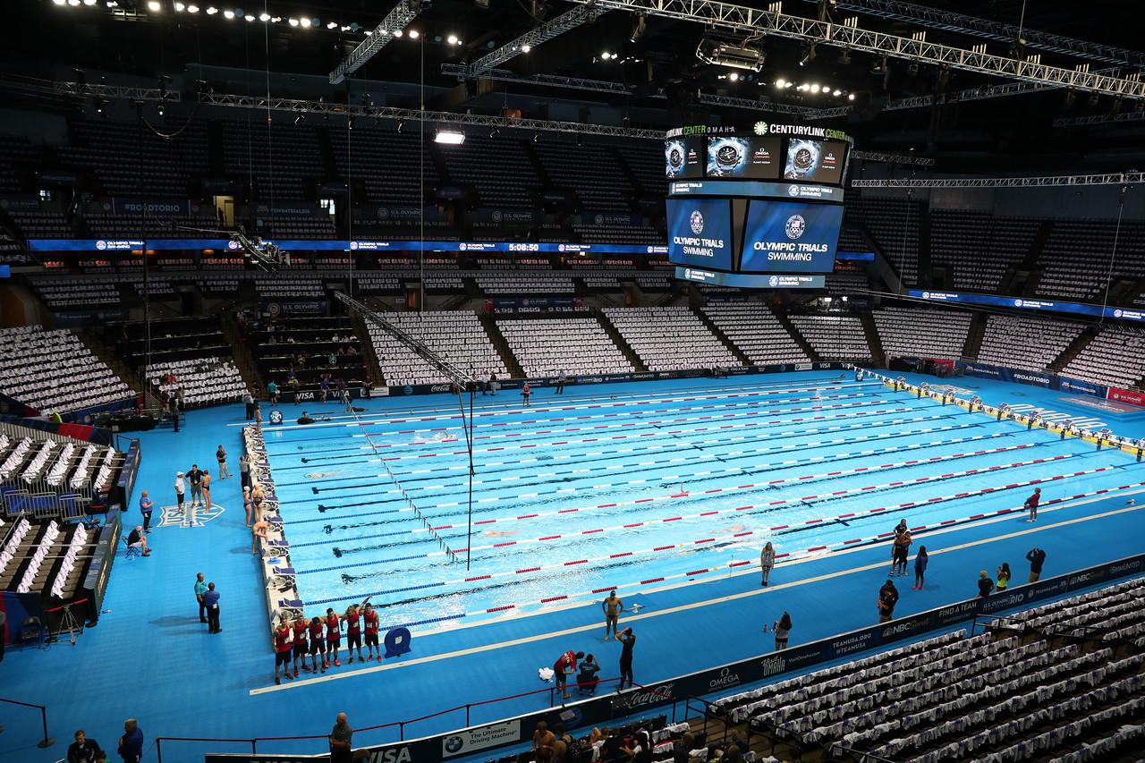 The 2016 Olympic Trials for swimming take place in Omaha, Nebraska, on Friday, July 1, 2016. Photo/Melissa Lundie- Bold Action Media