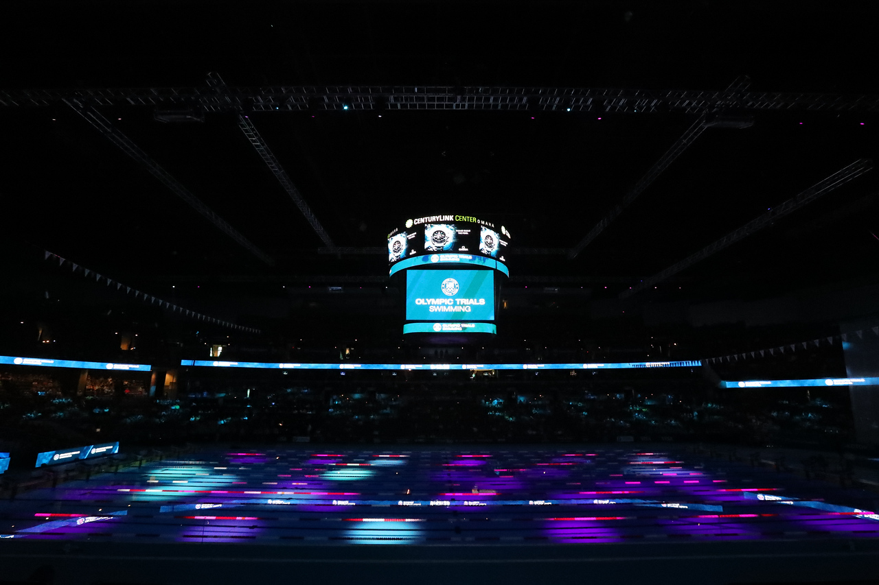 The 2016 Olympic Trials for swimming takes place in Omaha, Nebraska, on Wednesday, June 29, 2016. Photo/Matthew Bish- Bold Action Media