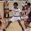 BJ Howard is double-teamed by Tenaha in the Class 2A Region III Semifinals at Leon High School.