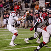Gavin Murr (1) takes the snap in the Thursday in Class 2A Division I state semifinal game  against Refugio at Cy Fair FCU Stadium.  (Photo:  Artie Guerrero)