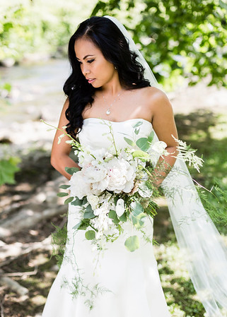 Gorgeous Bride by the river