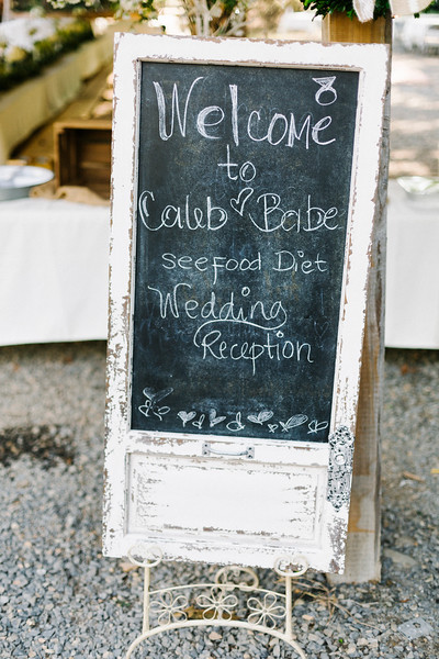 Reception Sign by Everbright Photography