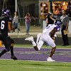 Lufkin's Titan Williams (#6) catches a pass and outruns College Station's B. Joseph for a touchdown