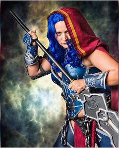 Blue Haired Warrior Girl-LUT Berlin