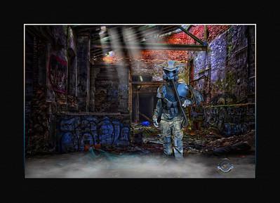Bird Man-Framed-V2-Graffiti Bldg