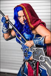 Blue Hair Warrior Girl V1-14
