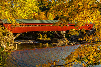 Taftsville Bridge in Fall