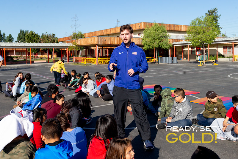 Paralympian Cody Jones at Bellingham Elementary for Ready Set Goals