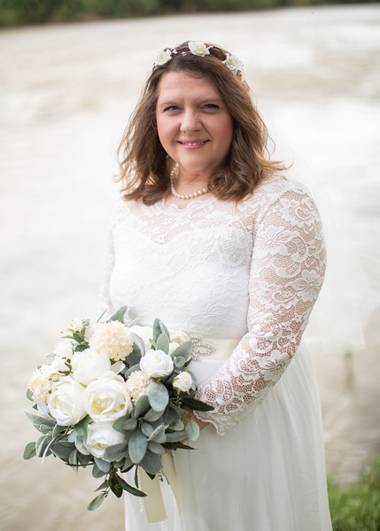 Bride at Wedding at Nolichucky Vineyard by Everbright Photography